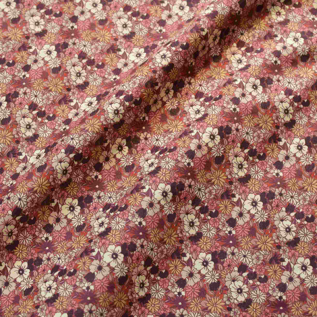 Autumn Wildflower Stretch Cotton Poplin– 1/2 yard