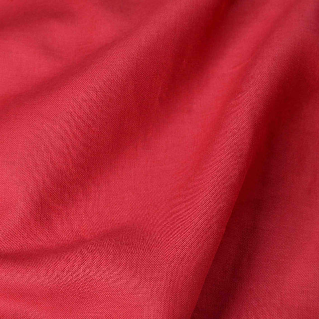 Cerise – Heavyweight Linen – 1/2 yard