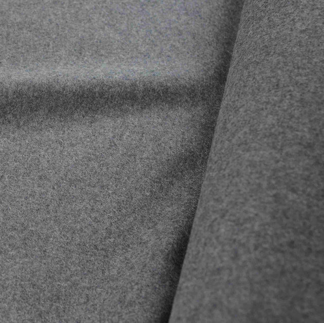 Charcoal Grey 100% Wool Melton Coating – 1/2 yard