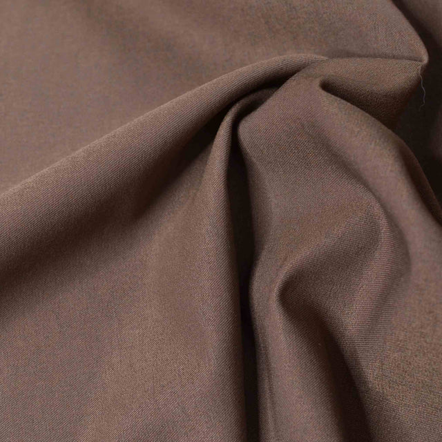 Metallic Coffee Brown Stretch Bengaline Suiting - 1/2 yard