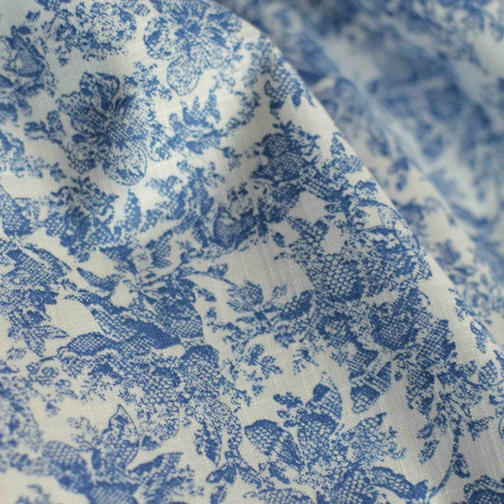 Deadstock Baroque Floral Slubbed Cotton Shirting – 1/2 yard
