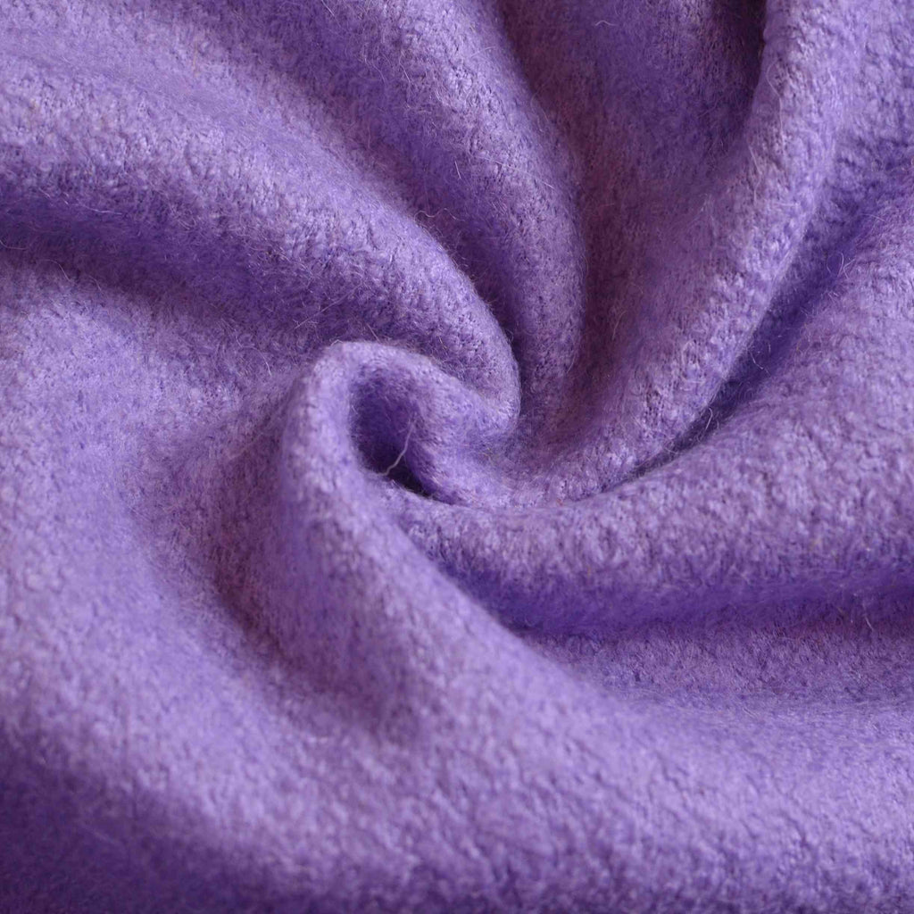 Electric Violet –  Deadstock Boiled Wool/Polyester Coating – 1/2 yard