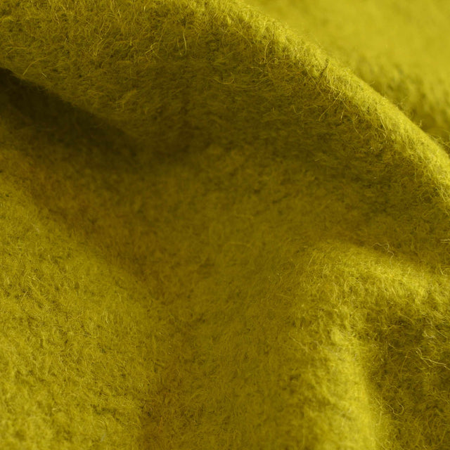 Chartreuse –  Deadstock Boiled Wool/Polyester Coating – 1/2 yard