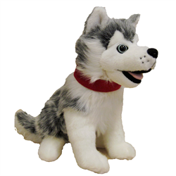 "12"" SITTING GREY HUSKY - beargrease"