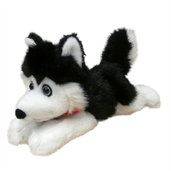 "7"" FLOPPY BLACK HUSKY - beargrease"