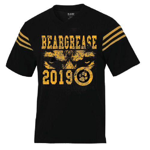 Black and Gold Jersey Tee - beargrease