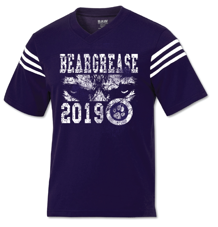 Purple and White Jersey Tee - beargrease