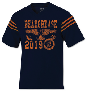 Navy and Orange Jersey Tee - beargrease