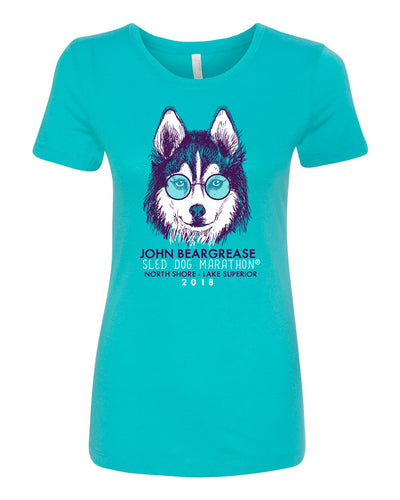 Cool Dog Tahiti Blue Womens  Tee - beargrease