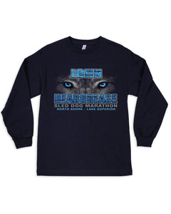 Husky Eyes Black Long Sleeve Tee - beargrease