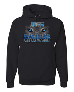 Husky Eyes Black Hooded Sweatshirt - beargrease