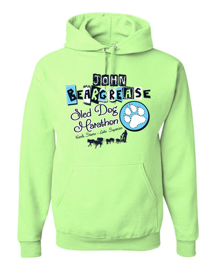 Pieces Neon Green Youth Hood - beargrease