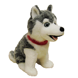 "7"" SITTING GREY HUSKY - beargrease"