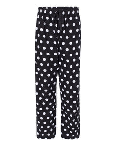 Polka Dot Flannel Pants