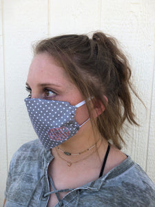 Embroidered Fabric Mask--Adult