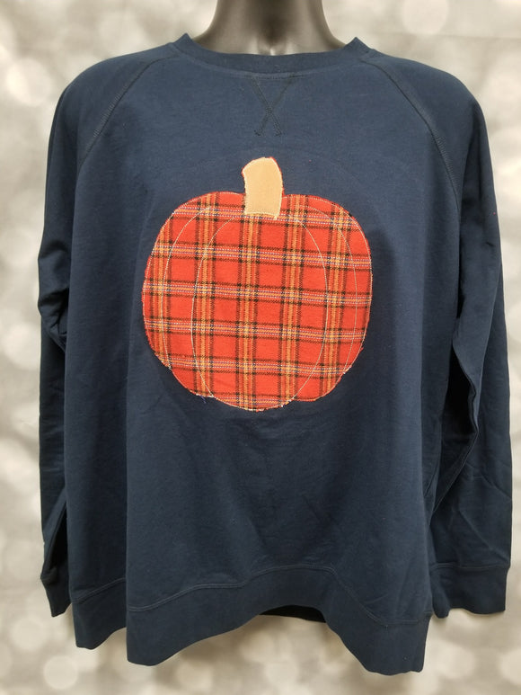 Pumpkin Applique Sweatshirt