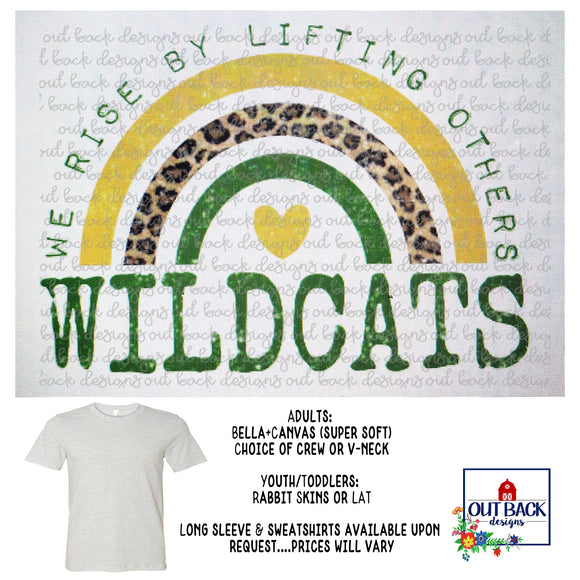 IDALOU WILDCATS--We Rise T-Shirt
