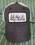 Merry Christmas with Trees Patch Cap