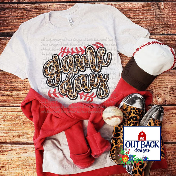 Leopard Print Game Day T-Shirt