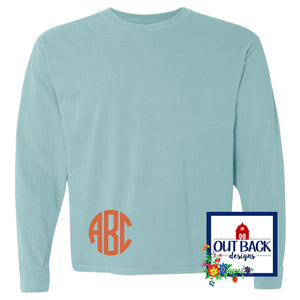 Comfort Colors Monogrammed Long Sleeve Shirt