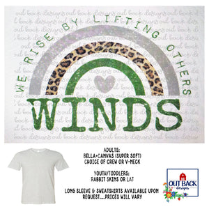 FLOYDADA WHIRLWINDS--We Rise T-Shirt