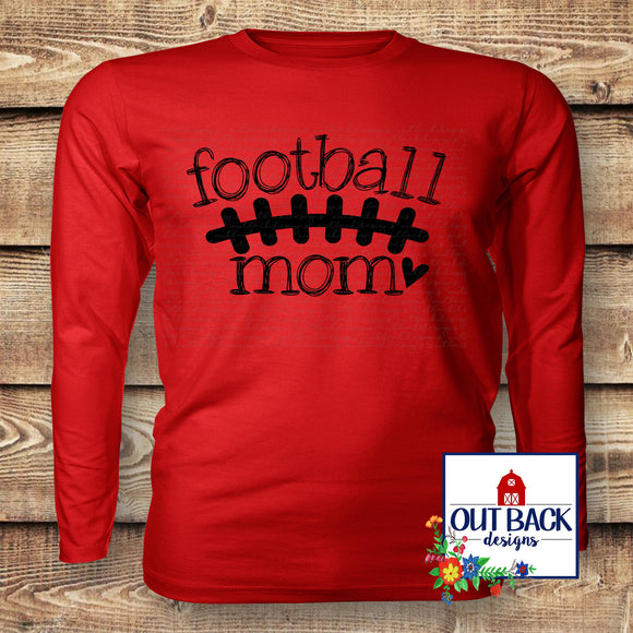 Football Mom Doodle Vinyl T-Shirt