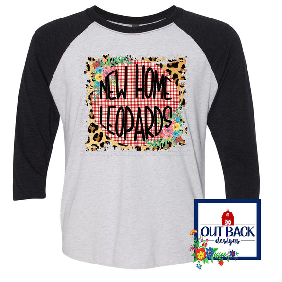 Gingham, Leopard & Floral Mascot Sublimated T-Shirt