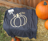 Pumpkin Outline Vinyl T-Shirt