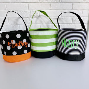 Patterned Halloween Buckets