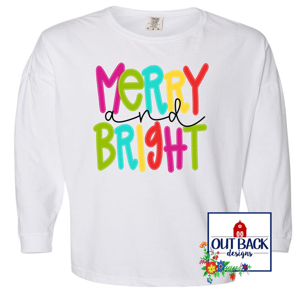 Doodle Merry & Bright Long Sleeve T-Shirt