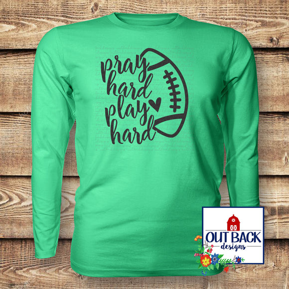 Pray Hard, Play Hard Vinyl T-Shirt