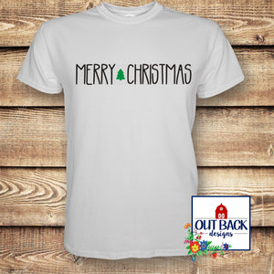 Simple Merry Christmas Vinyl T-Shirt