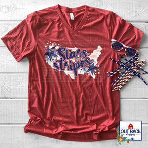 Stars & Stripes Screen Print T-Shirt