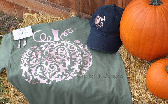 Fancy Pumpkin Vinyl T-Shirt