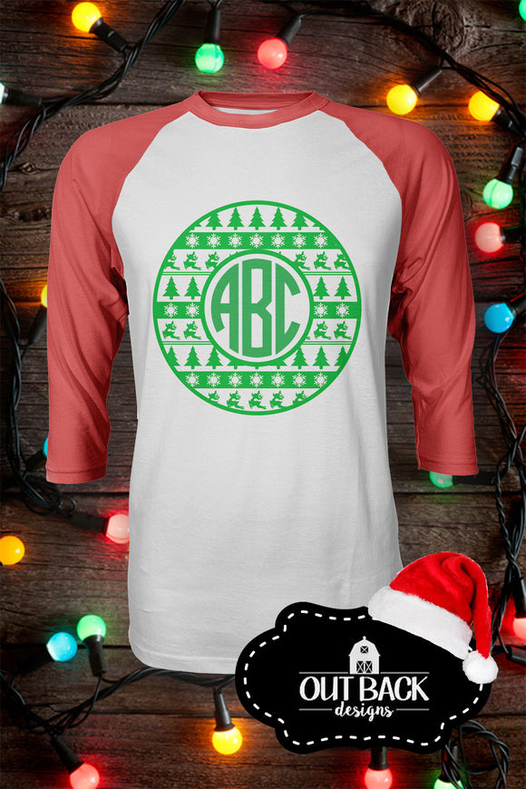 Tribal Christmas Monogram