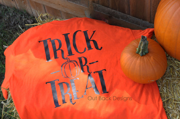 Kid's Trick or Treat Vinyl Shirt