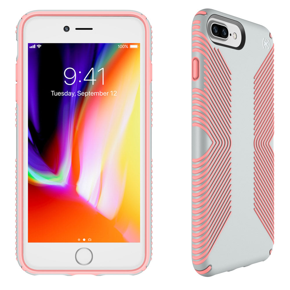 sale retailer e1092 95a0f APPLE IPHONE 6 PLUS / IPHONE 6S PLUS / IPHONE 7 PLUS / IPHONE 8 PLUS SPECK  PRODUCTS PRESIDIO GRIP CASE - DOVE GRAY AND TART PINK