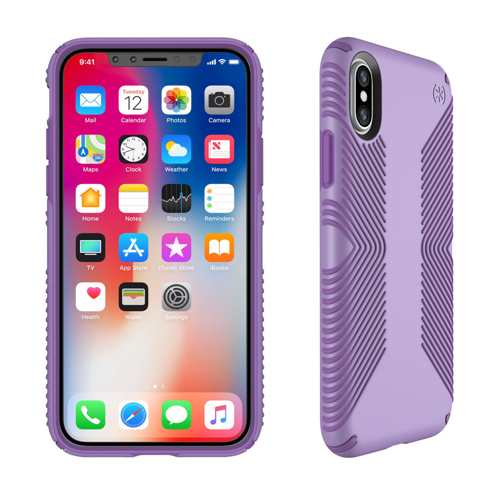 more photos 2345f ef97d APPLE IPHONE X SPECK PRODUCTS PRESIDIO GRIP CASE - ASTER PURPLE AND  HELIOTROPE PURPLE