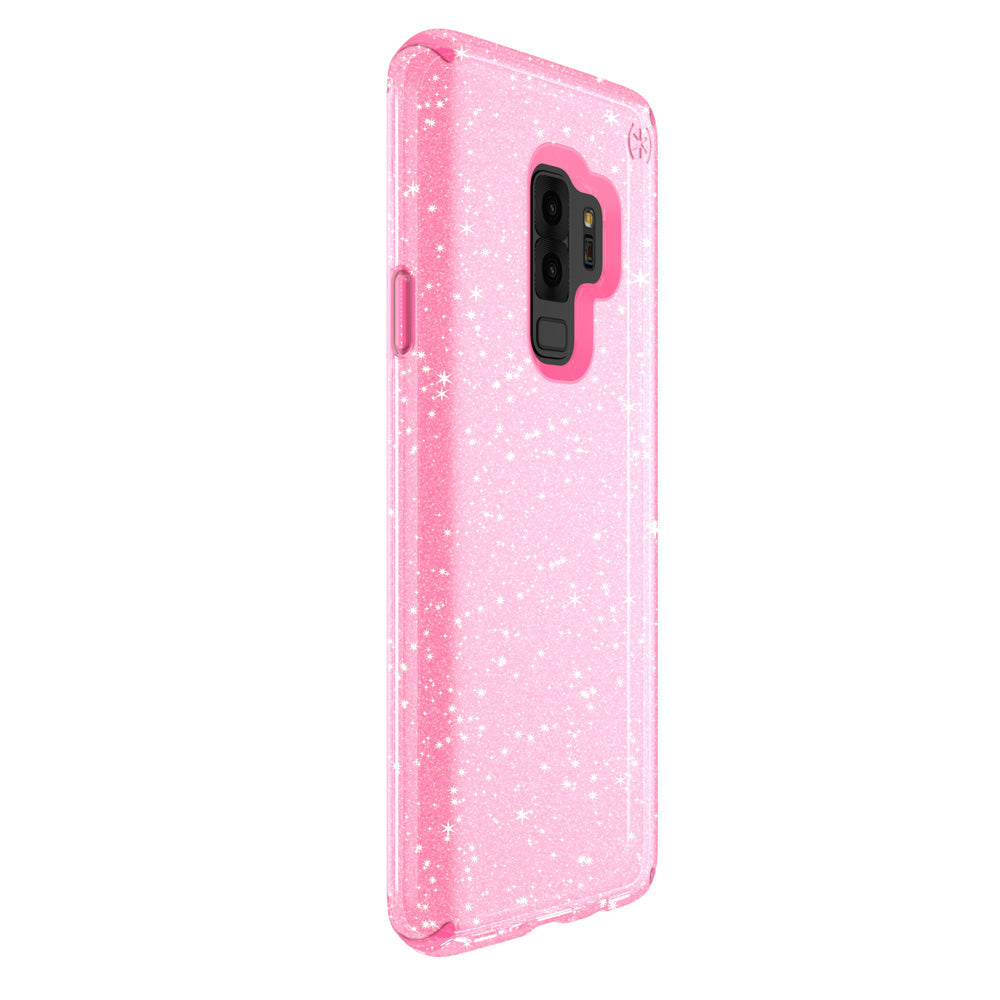 pretty nice 02a0a 26399 Speck - Presidio Clear + Glitter Case for Samsung Galaxy S9 Plus - Bella  Pink and Gold Glitter