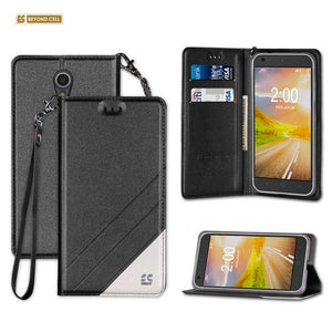 official photos 29bac 50137 Infolio Wallet Case for ZTE Z831 Chapel Black With Clear Gel
