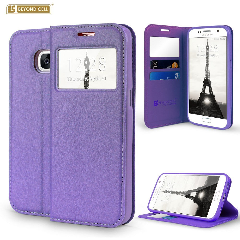 factory authentic 9c160 ac170 Infolio Wallet Case for Samsung Galaxy S7 Edge Purple on Purple With Purple  Gel