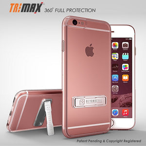 huge selection of 70c6e 09970 Tri Max 360 Full Wrap Scratch Resistant Case For Apple iPhone 6 Plus /  iPhone 6S Plus - Transparent Clear - With Kickstand