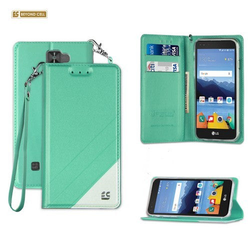 new style 228ac 426c7 Infolio Wallet Case for LG K8V / VS500 Mint With Clear Gel