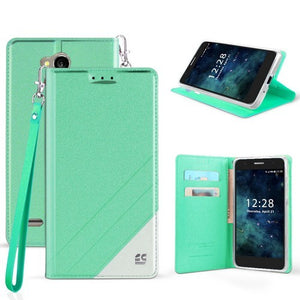hot sale online efd0c 677e9 Infolio Wallet Case For LG X Power 2 / X Charge Mint With White Gel