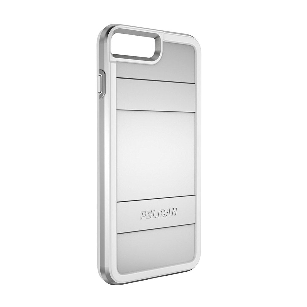 new concept cfda3 52ce5 Pelican - Protector Case for Apple iPhone 8 Plus / 7 Plus / 6s Plus / 6  Plus - Metallic Silver