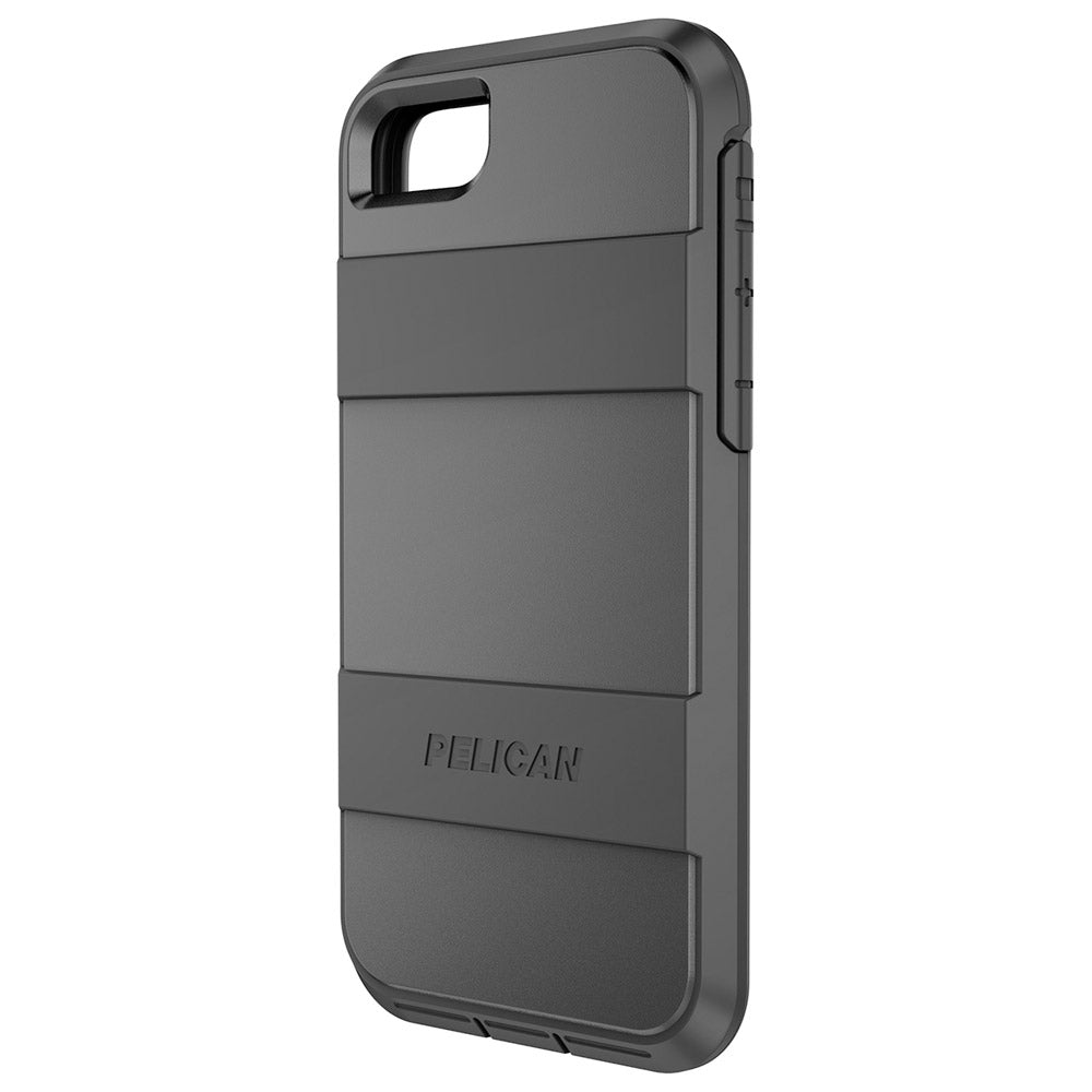 buy online 75e11 69b76 APPLE IPHONE 6 / IPHONE 6S / IPHONE 7 / IPHONE 8 PELICAN VOYAGER RUGGED  CASE WITH KICKSTAND HOLSTER AND SCREEN PROTECTOR - BLACK AND BLACK