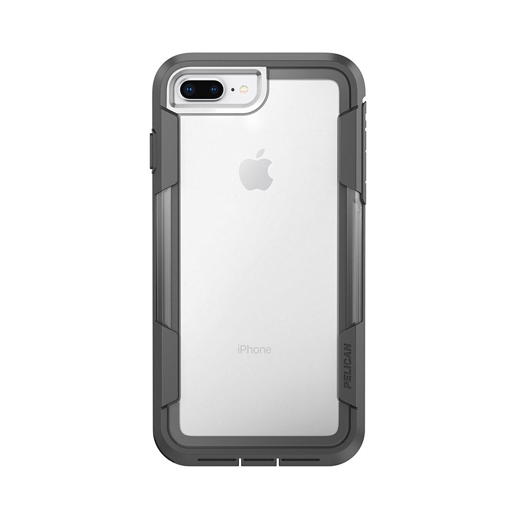 the best attitude 5fb3e a5bb7 Pelican - Voyager Case for Apple iPhone 8 Plus / 7 Plus / 6s Plus / 6 Plus  - Clear and Gray