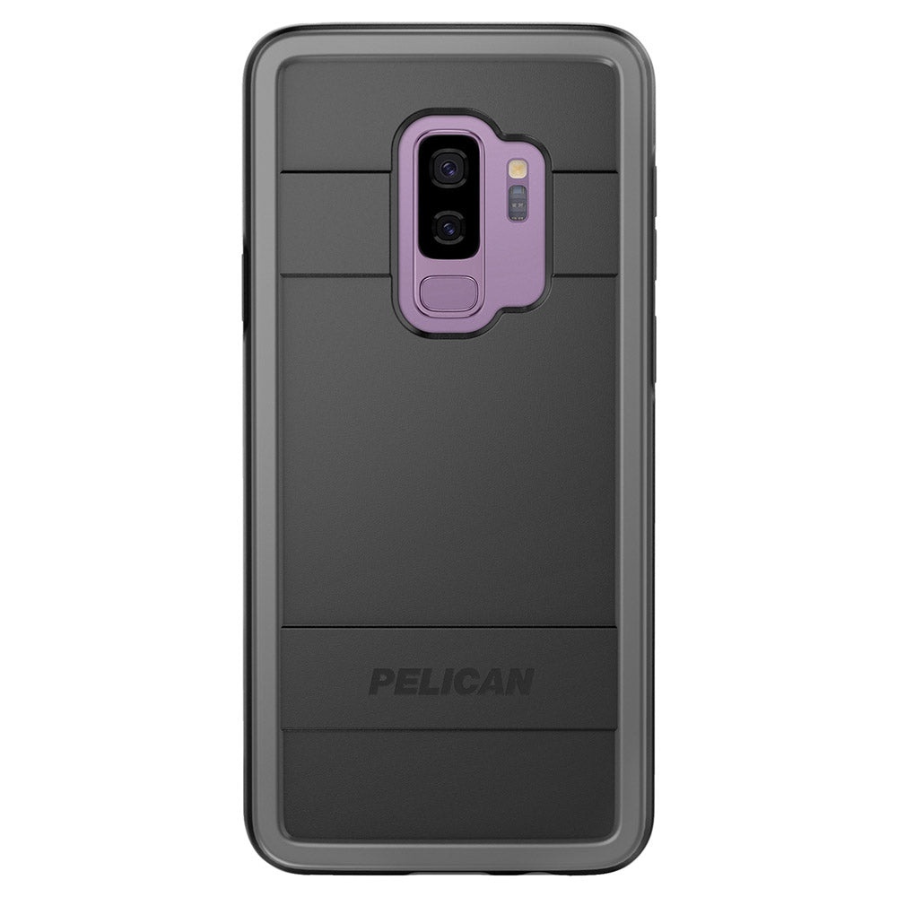 reputable site d2c89 e6e8d Pelican - Protector Case for Samsung Galaxy S9 Plus - Black and Light Gray