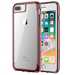 cheap for discount 318f7 75b0d Griffin Survivor Clear Case for Apple iPhone 6 Plus / 6S Plus / 7 Plus / 8  Plus - Dark Red - Retail Packaged
