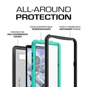 new arrival 5b2e5 5cbcd Ghostek Nautical Series Waterproof Case for Samsung Galaxy Note 8 -Teal -  Retail Packaged